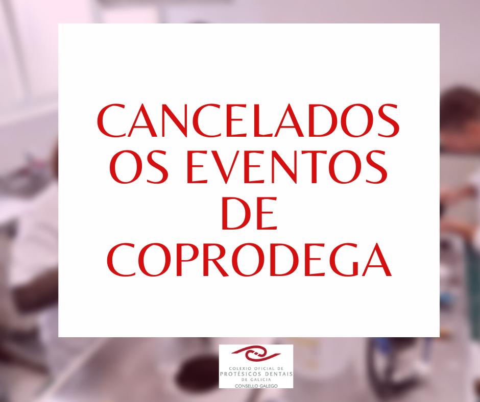 Cancelados eventos