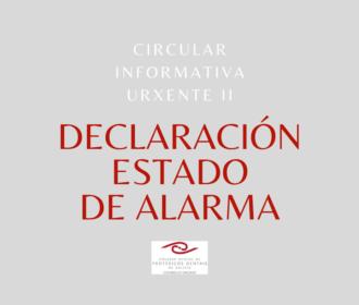 Circular Informativa II -Estado de Alarma