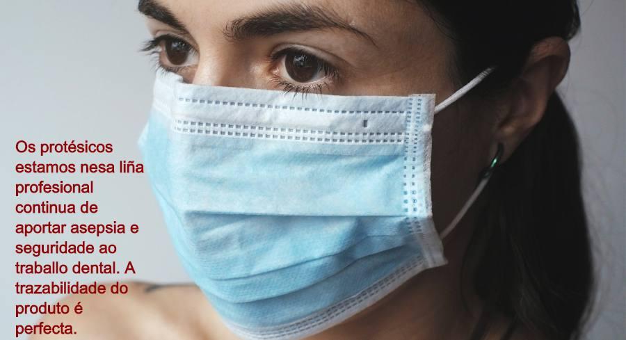 Protección anticovid de los protésicos dentales, mascarilla