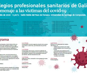 Os colexios da saúde únense na Homenaxe as Vítimas do covid-19