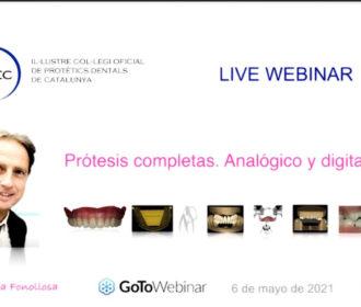 Webinar Prótesis: Analóxico e dixital.
