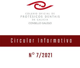 Circular Informativa 7/2021 -Produtos Sanitarios